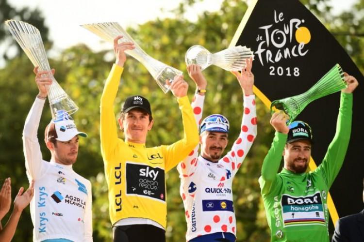 9c1a0a7e50 Geraint Thomas slávil víťazstvo na Tour de France krištáľovou ...