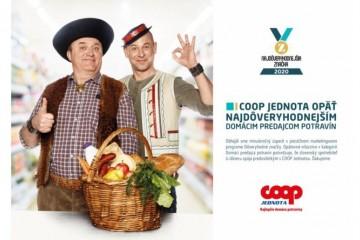 COOP Jednota je najdôveryhodnejším slovenským predajcom potravín