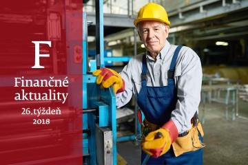 Finančné aktuality 26/2018: Prichádzajú zmeny pre pracujúcich dôchodcov