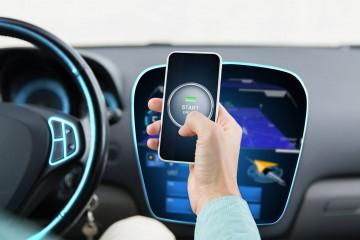 Smartfón, auto