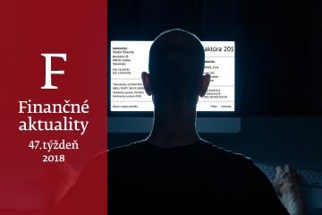 """Finančné aktuality 47/2018: Firmy by si mali dávať pozor na """"falošných šéfov"""""""