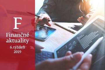 Finančné aktuality 6/2019: Ratingové agentúry Standard & Poors a Fitch Ratings potvrdili Slovensku rating na úrovni A+