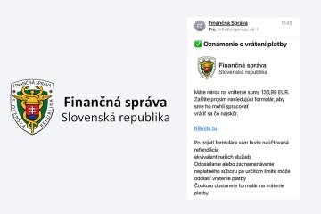 Finančná správa upozorňuje na falošné emaily