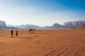 Púšť Wadi Rum v Jordánsku