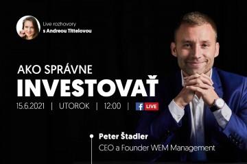 Live stream s Petrom Štadlerom