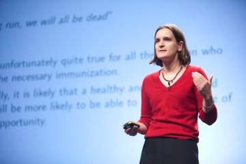 Esther Duflová, laureátka Nobelovej ceny za ekonómiu