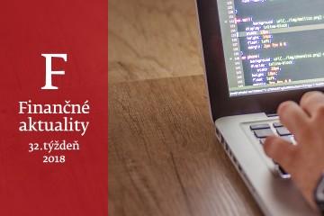 Finančné aktuality 32/2018: Finančná správa komunikuje s bankami elektronicky