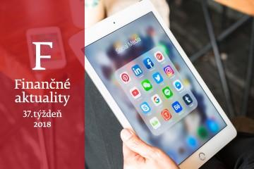 Finančné aktuality 37/2018: Podnikatelia slabo využívajú sociálne siete