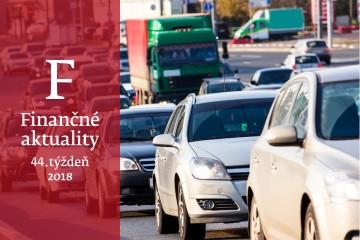 Finančné aktuality 44/2018: Rok 2019 bude rekordný, na celom svete sa zaregistruje vyše 100 miliónov áut