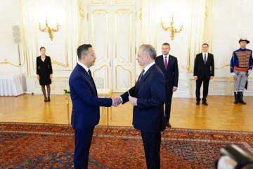 Prezident Andrej Kiska vymenoval Ladislava Kamenického za ministra financií