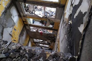 Bytovka po výbuchu v Prešove