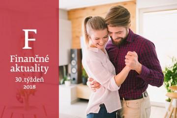 Finančné aktuality 30/2018: Slováci najviac míňajú na bývanie