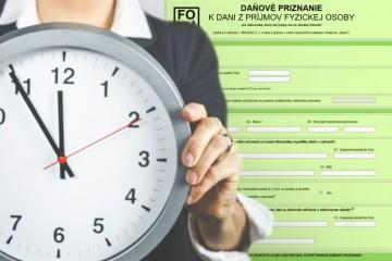 Čas na podanie odloženého daňového priznania sa kráti