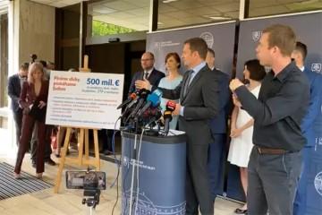 Vládny balíček za 500 miliónov eur