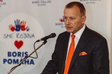 Predseda strany Sme rodina Boris Kollár