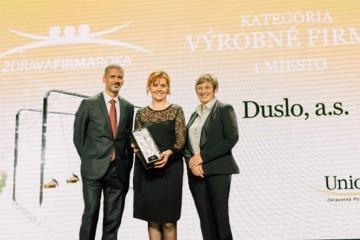 Ocenenie zdravá firma roka 2018 získali firmy  Duslo, Siemens aYMS