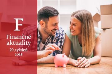 Finančné aktuality 29/2018: Slováci sú schopní sporiť viac